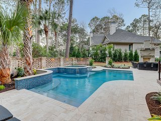 Huge, luxurious home with private pool - steps to the beach