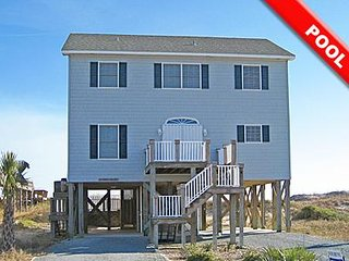 Breakers - 4BR Oceanfront House in North Topsail Beach with Private Heated Pool