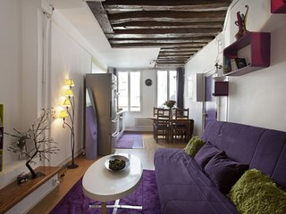 Purple Rain apartment in 03ème - Temple - Le Marais with WiFi.