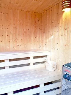 Hop out of the hot tub and in to the sauna