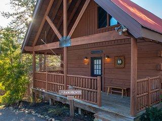 Three-story luxury cabin w/ private hot tub & shared seasonal pool