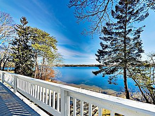 Chic Renovation on Johns Pond — Idyllic Waterfront Views, Dock, Private Beach