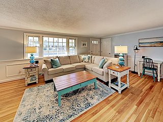 Updated Cape Cod Charmer w/ Game Room – Walk to Beach