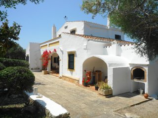 Catalunya Casas: Marvelous Rustic Villa Andrea with pool in Menorca, up to 10 gu