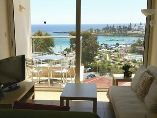 Luxury seafront 2 bedroom apartment with a large pool on Fig Tree Bay