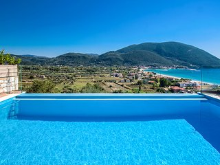 A luxurious holiday villa with private pool and sea views in Vasiliki, Lefkada