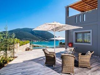 Modern Villa Ostria with Pool & Amazing Sea View in Vasiliki, Lefkada