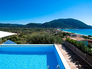 A Stylish Villa with Private Pool and Sea Views in Vasiliki, Lefkada