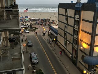 Worldmark Resort Two Bedroom, Partial Ocean View from Balcony at Seaside Oregon