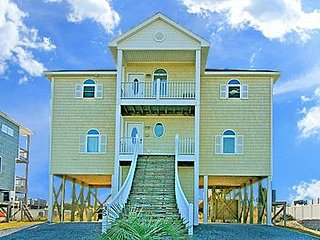 35 Porpoise Place - 5BR Oceanfront House in North Topsail Beach with Elevator -
