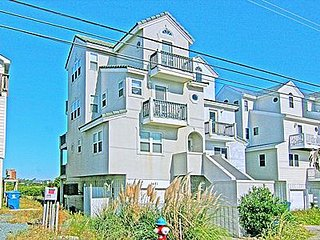 Sand Castle - 3BR Duplex in North Topsail Beach with Ocean & Sound Views