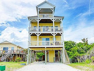 Three Rivers - 4BR North Topsail Beach House with Ocean & Sound Views - Private