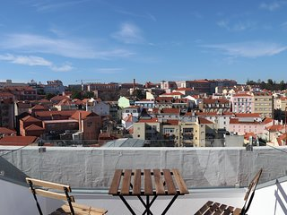 New Apartment in the center with 180º terrace view