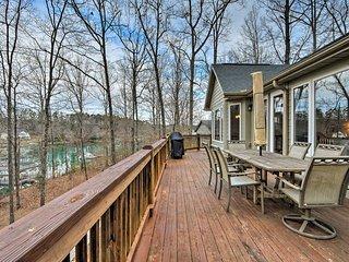 NEW! Lake Keowee Family Home w/Firepit, BBQ & Dock