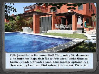 Villa Juanillo in Golf Club de Bonmont, exclusive Lage, mit Privat Pool, Klima