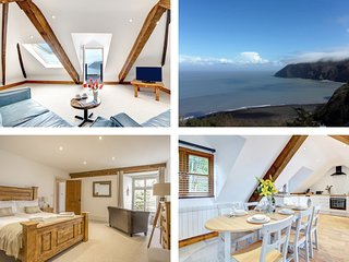 THE PENTHOUSE LYNMOUTH BAY, WiFi, sea views, in Lynton