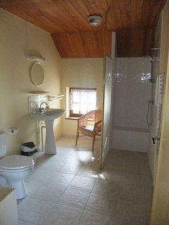 First bathroom, featuring a walk-in shower