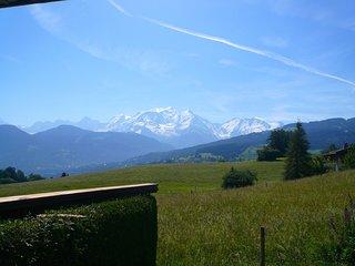 Agréable Studio 4p avec vue Mont Blanc + Terrasse Privative