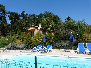 Les Haust du Coustalier, maison 'jade' pour 5 pers. avec piscine chauffee