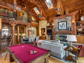 Secluded Luxury Mountain Village Home Set in Pine Forest Next to Ski Runs and Tr