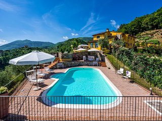 Villa Bucigattoli, magnificent home in the countryside near Pistoia. Pool & A/C!