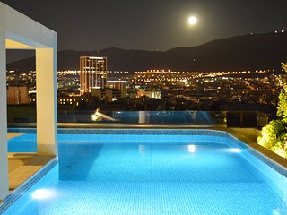 Athens Lycabettus Hill Penthouse, panoramic private roof garden & pool