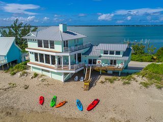 Eden Beach! 7BR/6BA Ocean-to-River Fla Beach House. ON THE BEACH! + Boat Dock