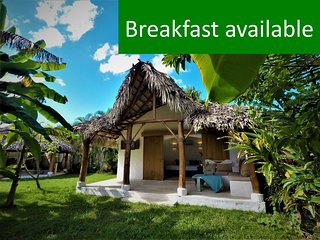 Dream Tropical Bungalow, 2min. Walk to BEACH, Town & Restaurants, Safe & Quiet!