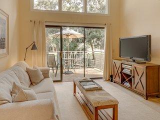 Spacious villa with golf course views, beach club access, and more