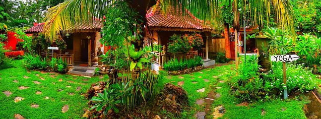 Panoramic view of our handcrafted Balinese Joglo's