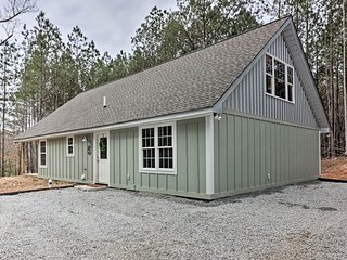 NEW! Chic Heflin Cabin with Pond Views & Game Loft