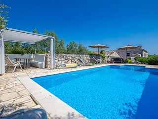 Stone villa with pool for rent Krk
