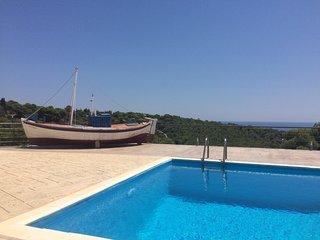 Aegina Aphaia Villa I w private pool, near the sea & Agia Marina seaside village