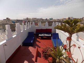 Maison au cœur de la médina d'Essaouira avec 2 terasses privées