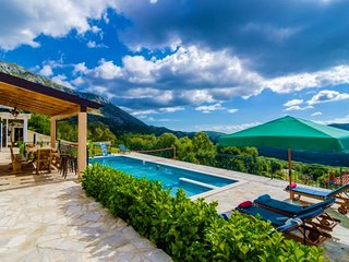Sea view stone villa with pool for rent Konavle region
