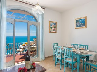 Villa in positano with amazing sea view at 400 mt from Laurito beach