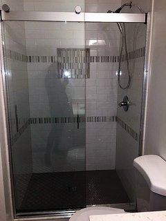 Fabulous new master bathroom is en-suite to first floor 'king bed' master.