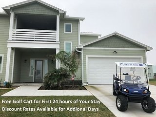 IP117: Large, New Home, Shared Pool, Boardwalk, Free Golf Cart for 1st 24 hrs