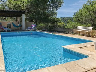 Awesome home in Pierrerue w/ WiFi, 3 Bedrooms and Outdoor swimming pool