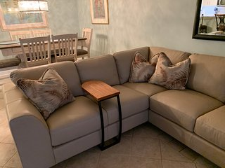 New sectional leather sofa.  Very comfortable!