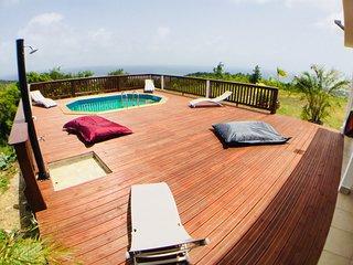 Villa écologique avec vue sur mer des Caraïbes et Piscine privée