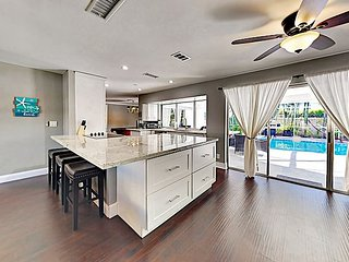 Newly Furnished Home w/ Private Pool & Pool Table -- Walk to Beach & Dining