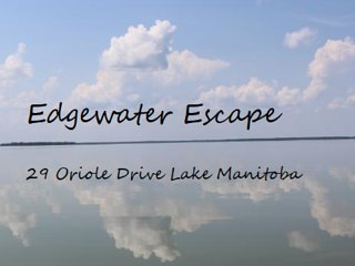 2 hrs from Winnipeg Lakefront Cottage Cabin Edgewater Escape MB Lake Manitoba