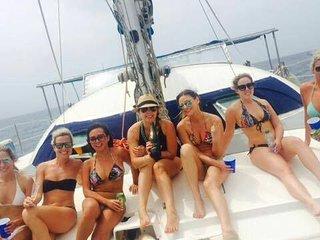 Catamaran in San Blas, Panama