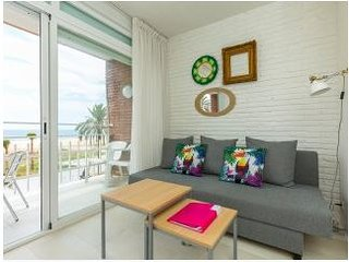 BeachFront Apt.5 with balcony + view by Barcelona