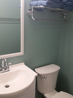 Front bedroom powder room.  Totally redone in 1st quarter 2018!.