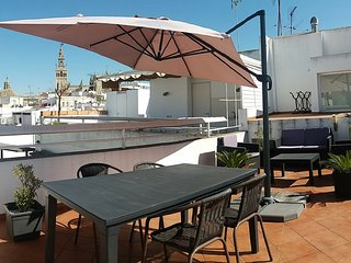 Fantastic Attic Apartment with Private Terrace in El Arenal of Seville