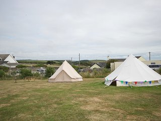 Bell Tents Near Pub and beach