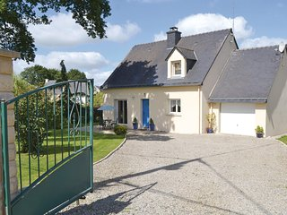 Awesome home in Guehenno w/ WiFi and 3 Bedrooms