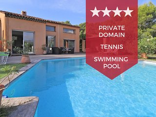 ☀️ Villa with spectacular view, heated swimming pool and tennis court☀️